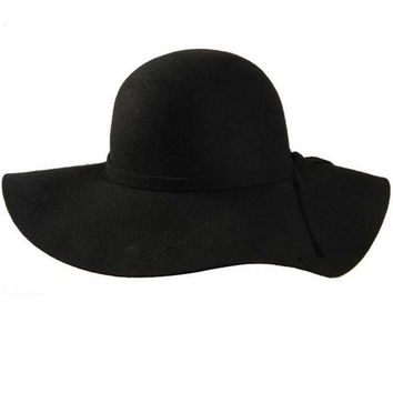 100% pure wool caps fedoras Hofn's stetson beach floppy wide brim sun hat foldable with tie for women autumn-summer