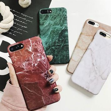 Retro Marble Pattern Cases For New Samsung Galaxy and Apple iPhone Devices