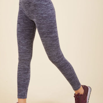 Heed Your Warming Fleece-Lined Leggings in Navy | Mod Retro Vintage Pants | ModCloth.com