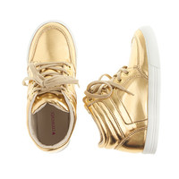 crewcuts Girls Mirror Metallic High-Top Sneakers