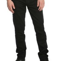 RUDE Black Slim Straight Jeans