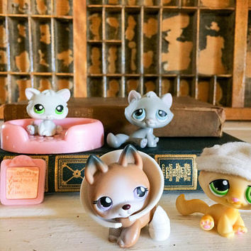 Littlest Pet Shop, LPS, Lps on the Go, Littlest Pet Hospital, Lps Set, LPS Hospital Set, Littlest Pet Cat, Lps German Shepard, LPS Cat