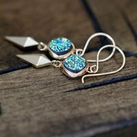 Stiletto Earrings - Teal
