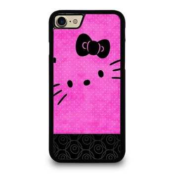 HELLO KITTY PINK BLACK iPhone 4/4S 5/5S/SE 5C 6/6S 7 8 Plus X Case
