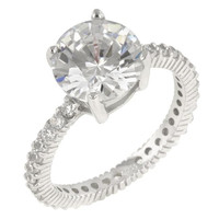 Queen Anne Clear Ring, size : 10