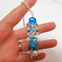 Once Upon a time Abc Ouat Frozen key Elsa Ice Castle Key wire wrapped necklace Pendant