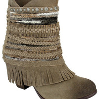 Naughty Monkey Poncho Taupe Boots