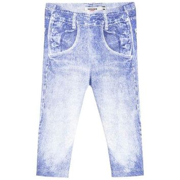NOV9O2 Junior Gaultier Baby Denim Print Leggings