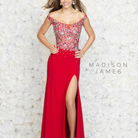 Madison James Prom 15-161 Madison James Lillian's Prom Boutique
