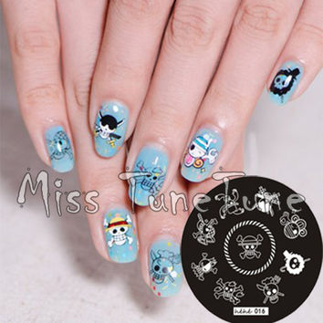 Stamping Plate One Piece Skull Pirate Nail Art