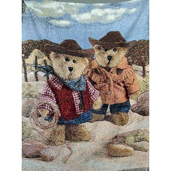 Tache 50 x 60 Meanwhile in the West Tapestry Throws (TATB-2173)