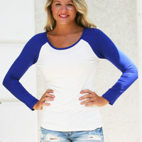 Gameday Baseball Tee - Royal Blue