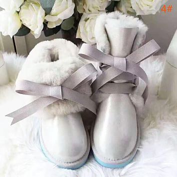 UGG High Quality Fashion Women New Bow-Knot Personality Keep Warm Leisure Shoes
