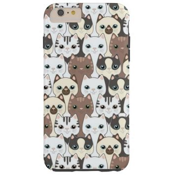 charming adorable cats tough iPhone 6 plus case