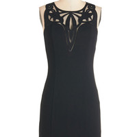 ModCloth LBD Mid-length Sleeveless Sheath Take on the Swirled Dress