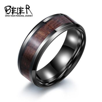 Cool Man Black Stainless Steel Dark Red Ring Face Best Gift For Boy Friend size BR-R010