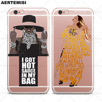 Phone Cases Beyonce Lemonade Hold Up Formation Crystal Clear TPU Case Cover for Apple iPhone 5 5s SE 6 6s 7 Plus