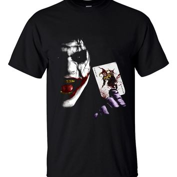 Cool T-shirt Joker Heath Ledger Vintage Batman 2 2019 summer new fashion 100% cotton loose fit men t shirts  brand clothing