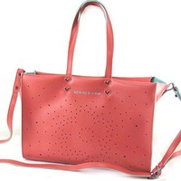 'french touch' bag 'Agatha Ruiz De La Prada'red - perforated hearts.
