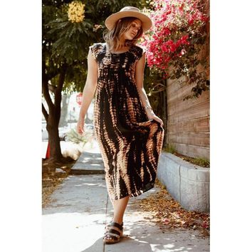 DESERT DAZE CAP SLEEVE DRESS
