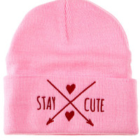 The BFF Cupid Beanie in Pink