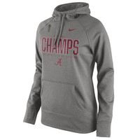Alabama Crimson Tide Nike Women's College Football Playoff 2015 National Champions Performance Pullover Hoodie - Gray