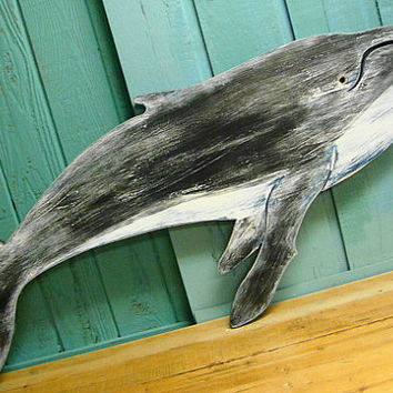Humpback Whale Sign Wall Art Beach House Decor