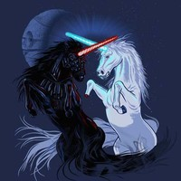 Star Wars Retold with Unicorns T-Shirt | GeekAlerts