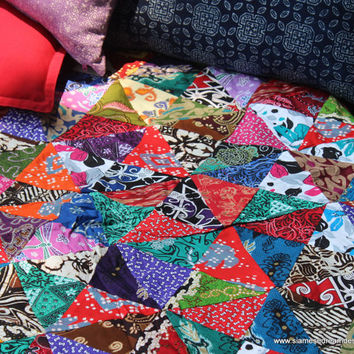 Patchwork Blanket Double Sided Bali Batik from Siamese Dream : batik patchwork quilt - Adamdwight.com