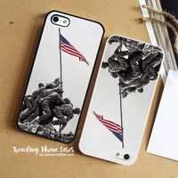Color On A Grey Day American Flag Army iPhone Case Cover for iPhone 6 6 Plus 5s 5 5c 4s 4 Case