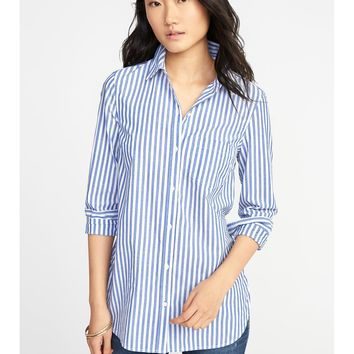 Classic Relaxed Striped Tunic for Women |old-navy