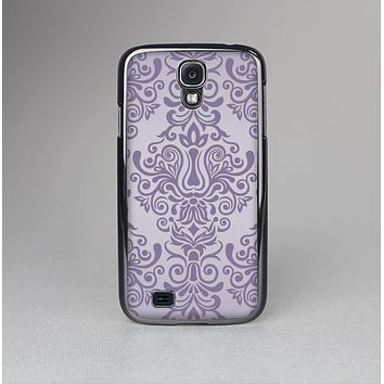 The Light Purple Damask Floral Pattern Skin-Sert Case for the Samsung Galaxy S4