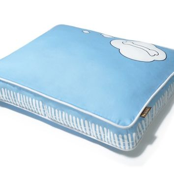 P.L.A.Y. What Dogs Dream Rectangular Bed - Sky Blue Light/White