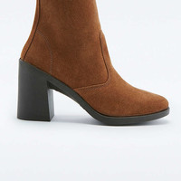 Patti Tan Suede Heel Ankle Boots - Urban Outfitters