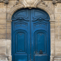 Paris Photo  The Blue Door Ornate Architectural Fine by ParisPlus