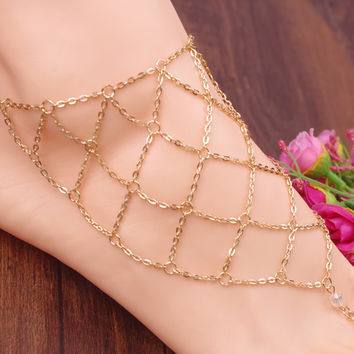New Arrival Sexy Cute Jewelry Shiny Ladies Gift Stylish Accessory Summer Anklet [8527529287]