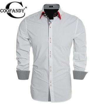 COOFANDY Men's Casual Slim Fit Long-Sleeve Solid Color Button Down Shirt