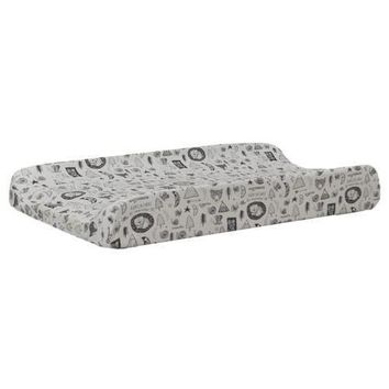Changing Pad Cover - Forest Dreaming | Black and White Adventure Awaits