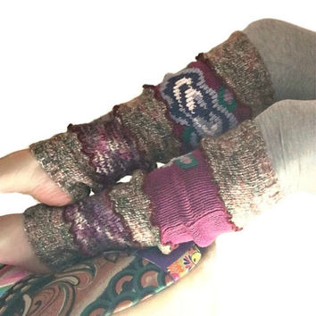 Leg Warmers, Maroon Leg Warmers, Upcycled Clothing, OOAK Upcycled Leg Warmers, Scrunch Leggings, Boho Boot Socks, Wanderlust, Gift for Her