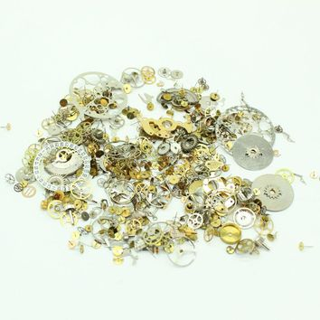 Free Shipping Steampunk Watch Parts 25g/lot Gears Altered Art Steam Punk DIY Accessories