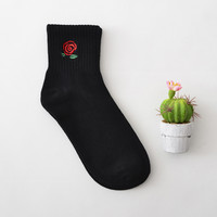 Red Rose 2 Pair Crew Sock Set