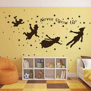 ik2799 Wall Decal Sticker Peter Pan fairy tale of Big Ben room children's bedroom