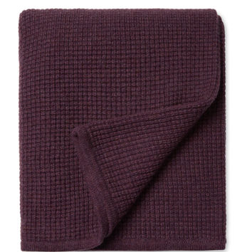 Sofia Cashmere Thermal Cashmere Throw - Purple