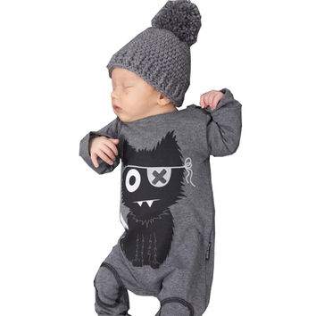 Kids Baby Boys Romper Long Sleeve Baby Boy Clothing Cotton Cartoon Infant Newborn Baby Clothes
