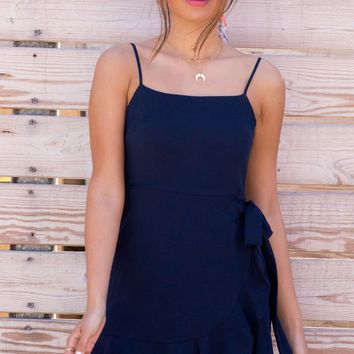 Navy Cami Wrap Dress