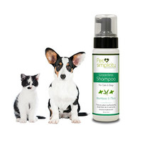 Dry waterless Dog and Cat Shampoo. Suitable for All Breeds and Coat/Type. All Natural Ingredients. Cleans, Conditions and Deodorizes. No harsh Chemicals. Made in the USA. 8oz. 100% No Risk Guarantee.