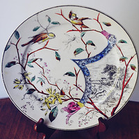 Imperial Warranted China, Antique Ironstone Plate, Unique Plate
