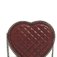 Stella McCartney 'Falabella Heart' Quilted Crossbody Bag - Purple