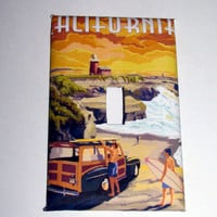 Light Switch Cover - Light Switch Plate Vintage California Surf Travel Poster