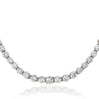 Tiffany & Co. -  Victoria Graduated Necklace in platinum with diamonds.